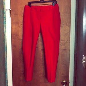 Loft red Julie Skinny size 8